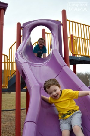 Fun on the Slide + More Playground Playdate Ideas with Gymboree and B-Inspired Mama