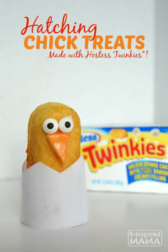 Hatching Chick Easter Treats using Twinkies at B-Inspired Mama