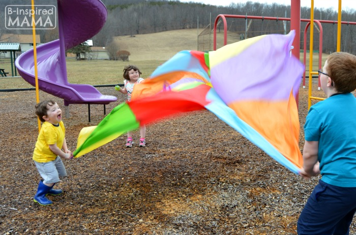 Parachute Play + More Playground Playdate Ideas for the Playground with Gymboree and B-Inspired Mama
