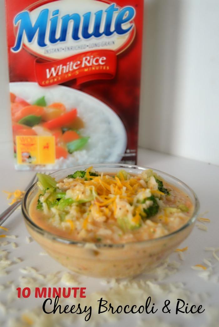 Super Easy Ten Minute Cheesy Broccoli Rice Recipe - B-Inspired Mama