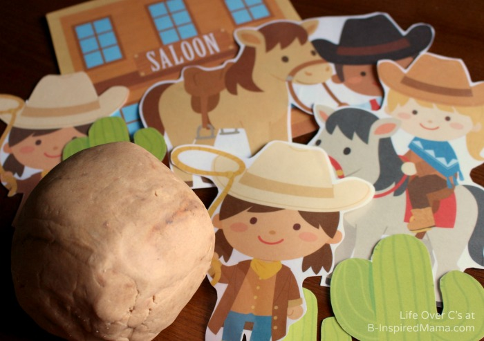 Some Wild West Playdough Fun with Playdough Printables at B-Inspired Mama