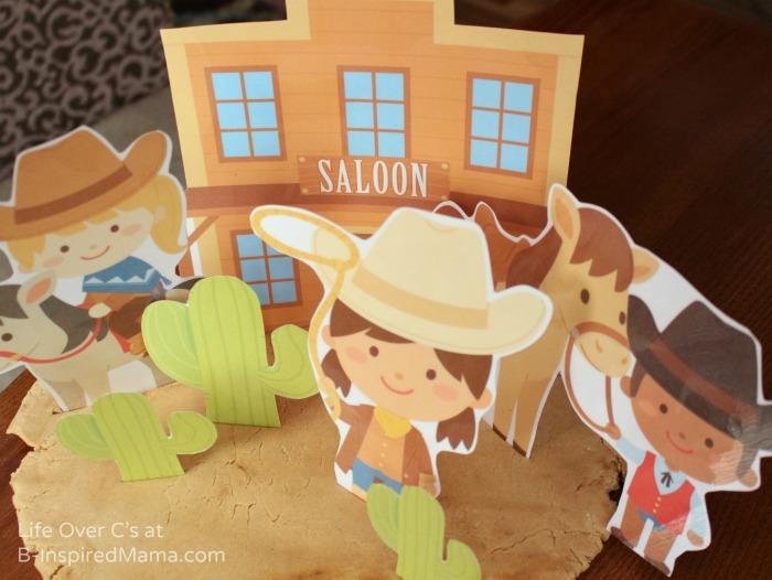 Wild West Playdough Fun with Free Playdough Printables at B-Inspired Mama