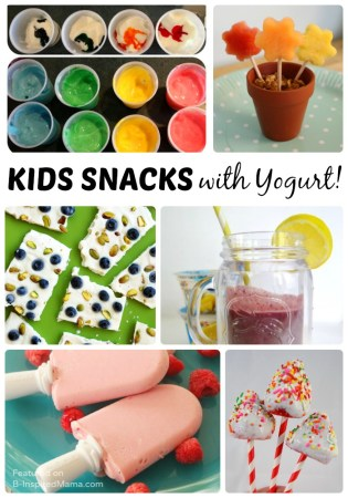 10 Fun Kids Snacks with Yogurt - Sponsored by Yoplait at Walmart - B-Inspired Mama