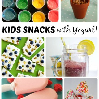10 Fun Kids Snacks with Yogurt