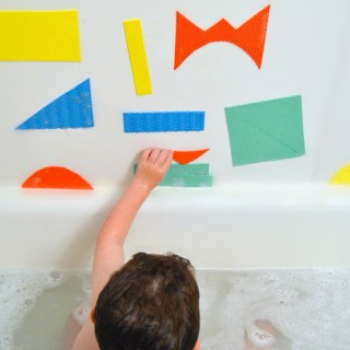 DIY Kids Bath Shapes for Abstract Art Fun