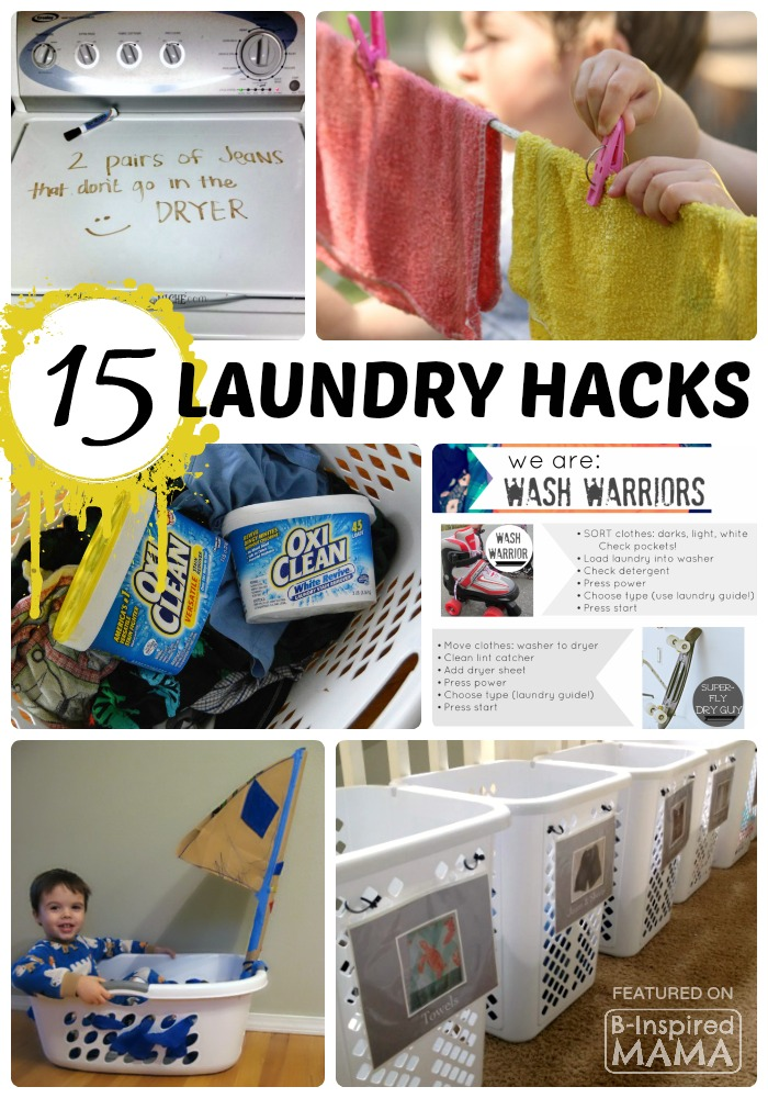 14 Real Life Laundry Hacks for Moms