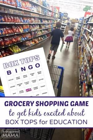 Box Tops Bingo Grocery Shopping Game - A Free Printable - at B-Inspired Mama