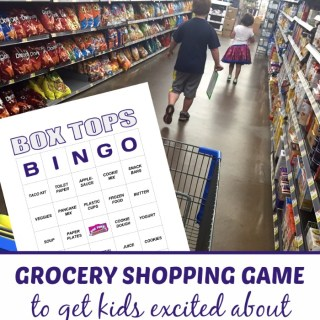Box Tops Bingo Grocery Shopping Game