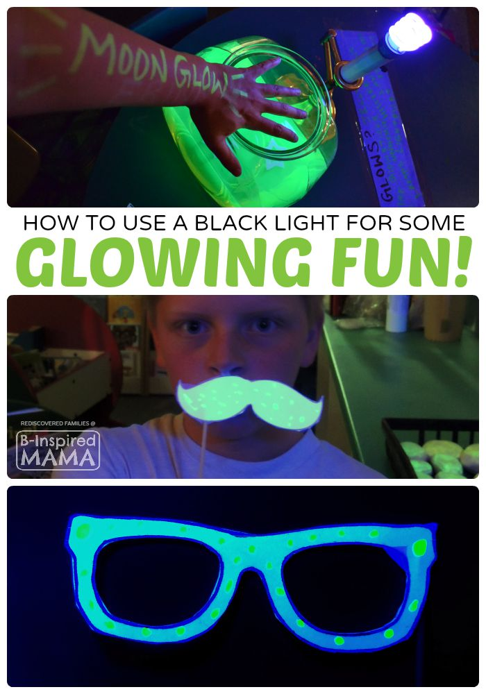 Fun and Easy Kids Activities that GLOW - at B-Inspired Mama