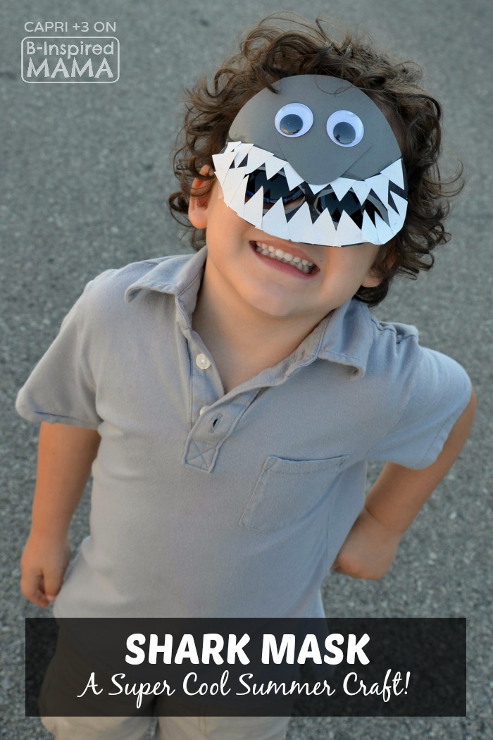 Super Cool Shark Mask Craft for Kids - Perfect for Summer - at B-Inspired Mama