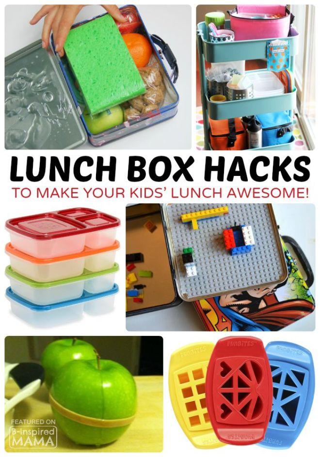 15 Fun and Clever Lunch Box Ideas - To Make Kids Packed Lunches Awesome - at B-Inspired Mama