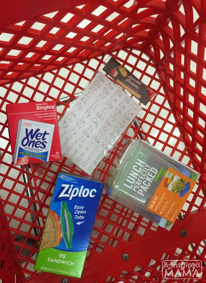 Filling Up our Cart at Target + Our Lunch Box Station Essentials at B-Inspired Mama