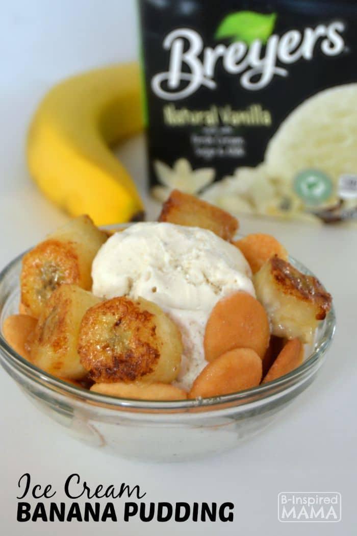 Ice Cream Banana Pudding - Easy Enough for the Kids to Help Make - B-Inspired Mama