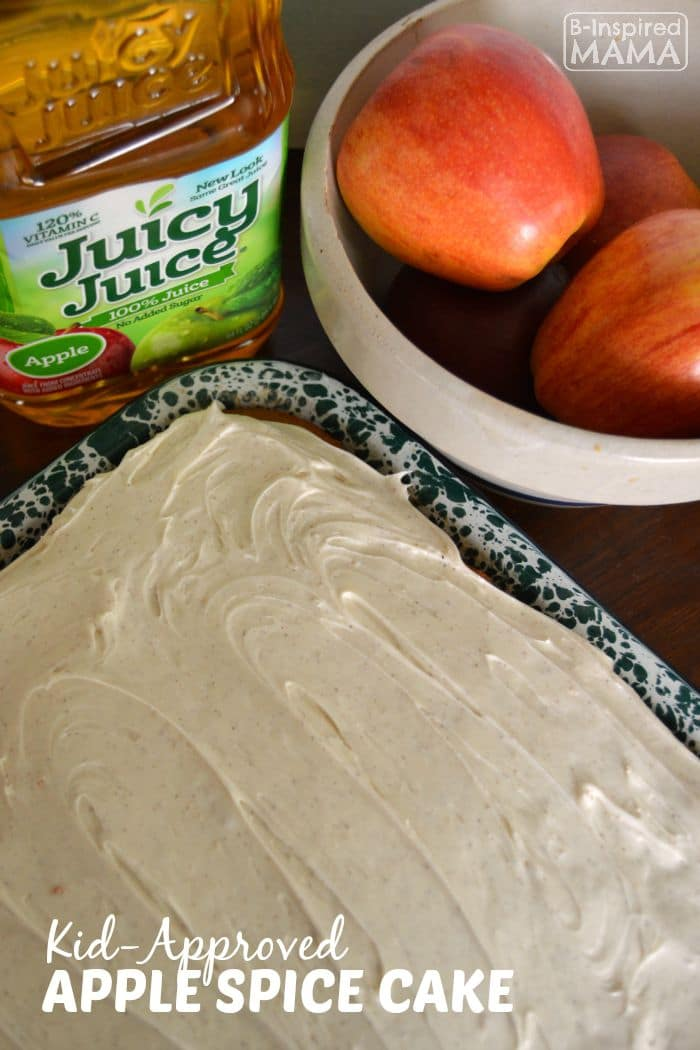 Kid-Approved Apple Spice Cake Recipe - With Cinnamon Cream Cheese Frosting - B-Inspired Mama