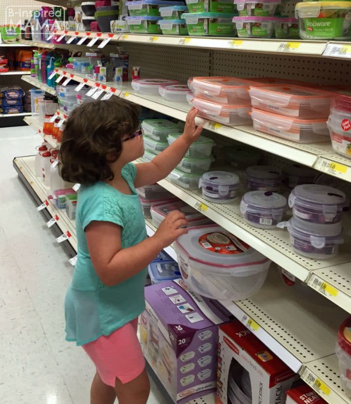 Picking out Lunch Box Containers at Target + Our Lunch Box Station Essentials at B-Inspired Mama