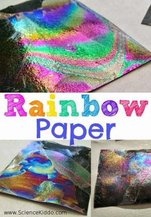 Rainbow Paper Color Science Experiement