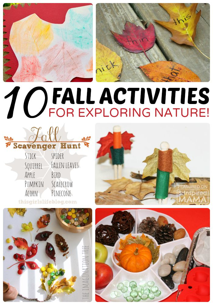 10+ Fall Kids Activities for Exploring Nature at B-Inspired Mama