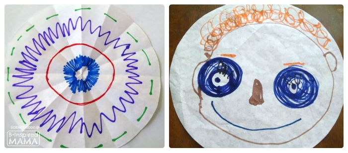 Marker Chromatography Science Experiment for Kids - Marker Designs - at B-Inspired Mama