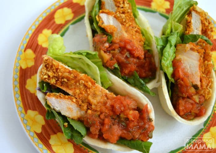 Southwest Tortilla Pork Taco Boats Dinner Recipe - So Easy - B-Inspired Mama