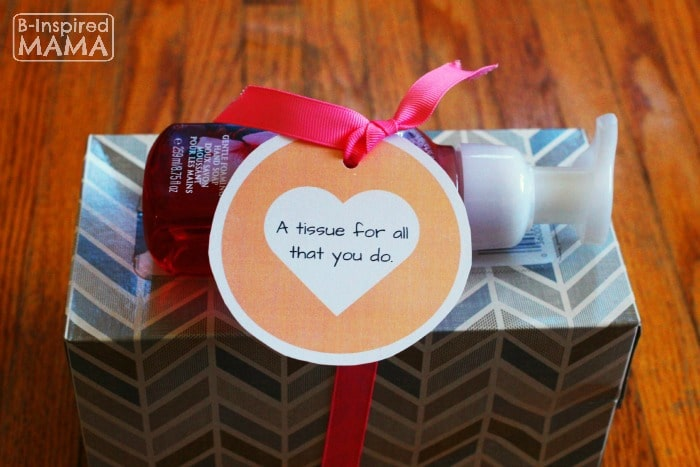 Cold Season Teacher Appreciation Gift - With Free Printable Tag - at B-Inspired Mama