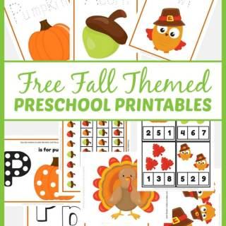 Free Fall Preschool Printables