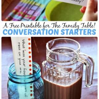 Printable Conversation Starters for Kids