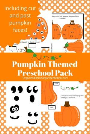 Pumpkin Themes Preschool Printables