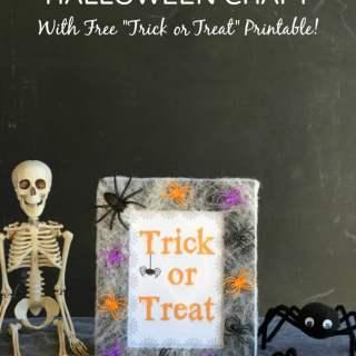 Spider Web Frame Halloween Craft