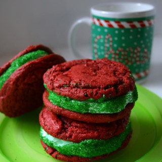 Easy Red Velvet Christmas Cookie Sandwiches