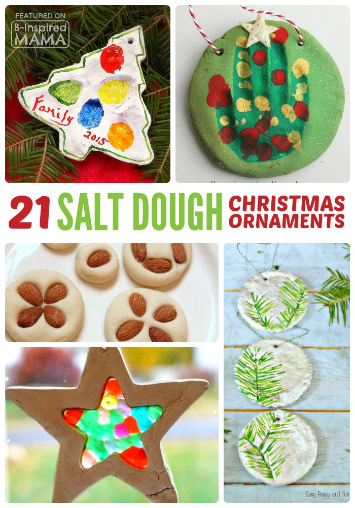 21 Homemade Christmas Ornaments - Using Salt Dough - at B-Inspired Mama