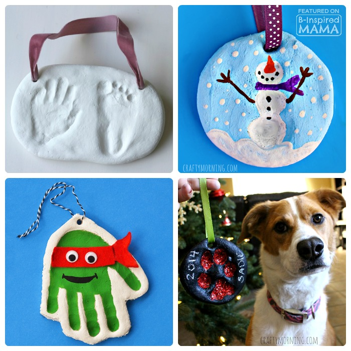 21 Homemade Christmas Ornaments Using Salt Dough - at B-Inspired Mama
