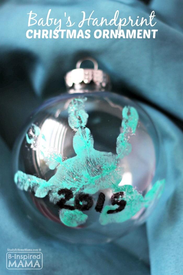 Sweet Homemade Handprint Ornament