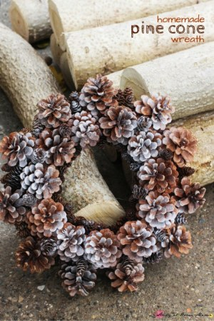 Homemade Pine Cone Wreath