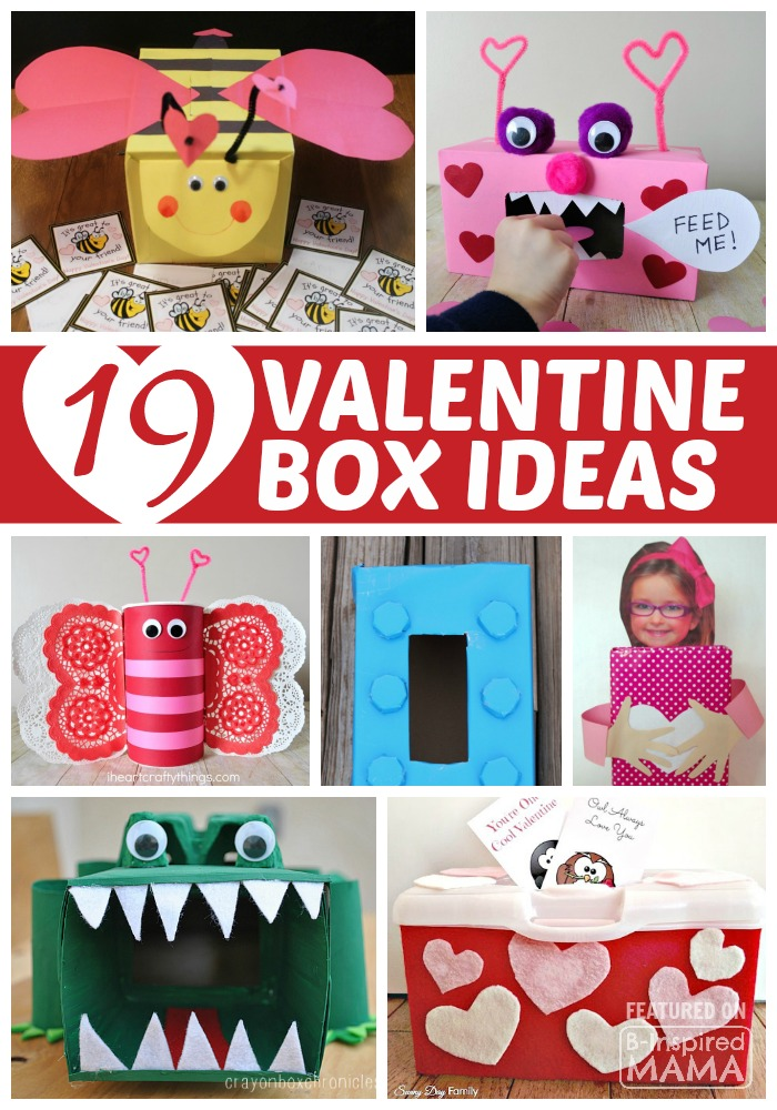 19 clever and creative valentine box ideas for kids at b inspired mama - Kids Valentine Boxes
