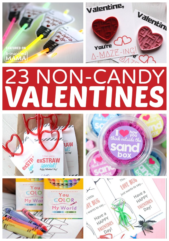 23 Cute Non-Candy Valentines for Kids - at B-Inspired Mama