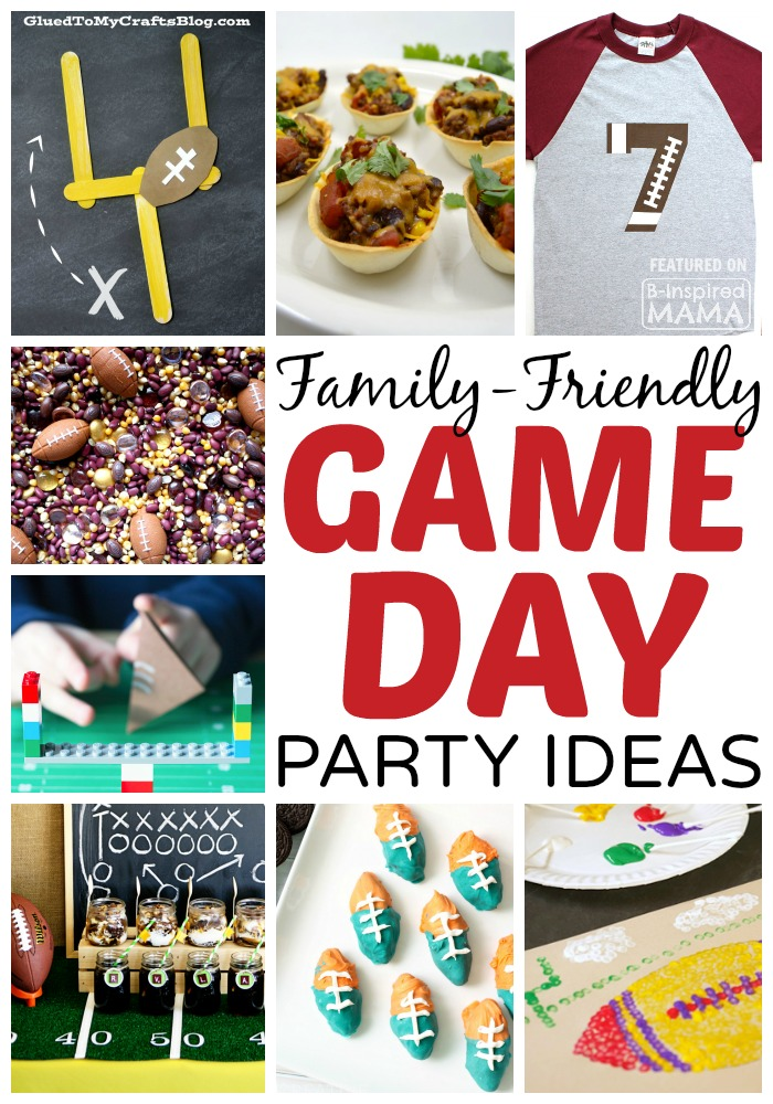 9 Family Friendly Football Game Day Party Ideas at B-Inspired Mama