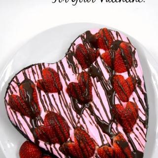 Easy Dark Chocolate Strawberry Brownies