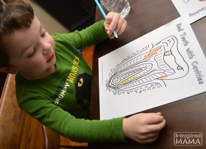 JC Coloring his Dental Coloring Pages - at B-Inspired Mama