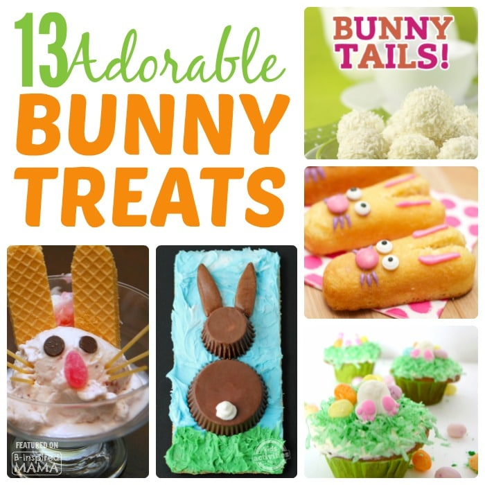 13 Bunny Themed Easter Treats ALMOST Too Cute to Eat - at B-Inspired Mama