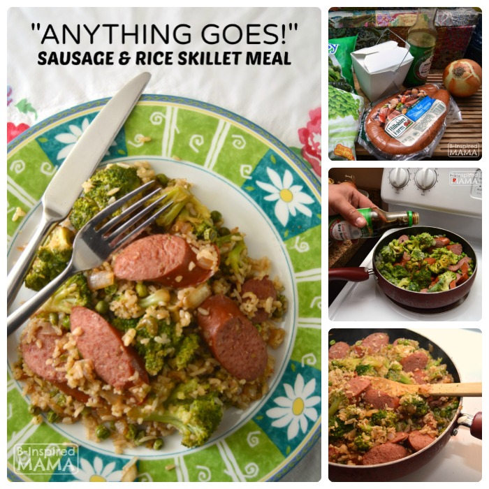 Anything Goes Sausage and Rice Skillet Meal - Ready in Under 30 Minutes