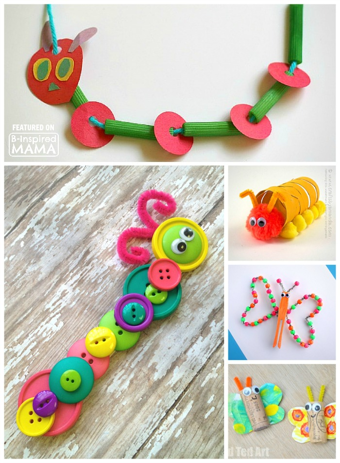 25 Creative And Cute Caterpillar Butterfly Crafts For Kids