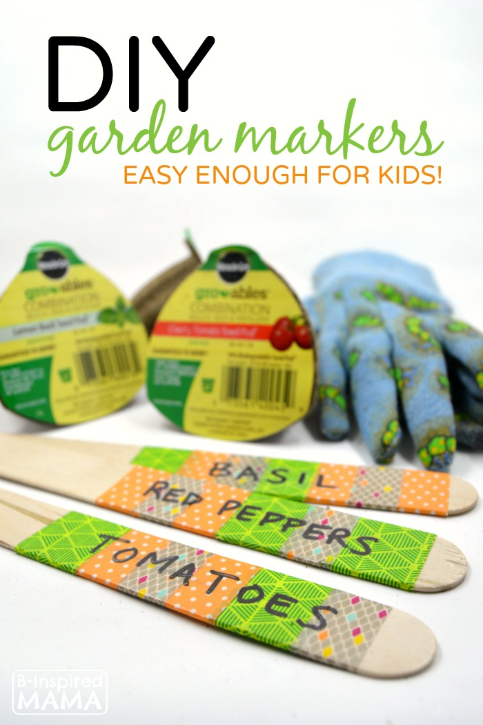 DIY Garden Markers – Easy Enough for the Kids to Make