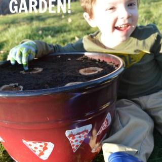 Plant a Kids Pizza Garden in a DIY Pizza Garden Planter