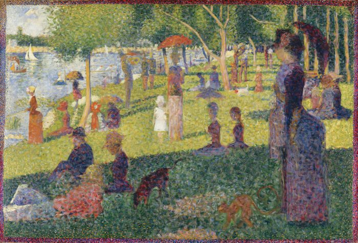 Exploring Famous Artists - French Artist George Seurat - with Fingerprint Pointillism Painting for Kids - B-Inspired Mama