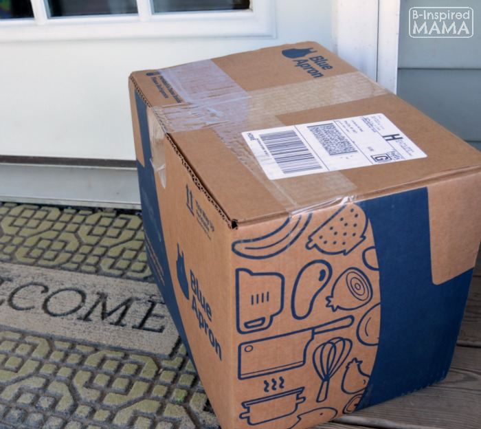 How Busy Moms can Cook Fancy Meals - A Blue Apron Review - My Blue Apron Box at My Door - at B-Inspired Mama