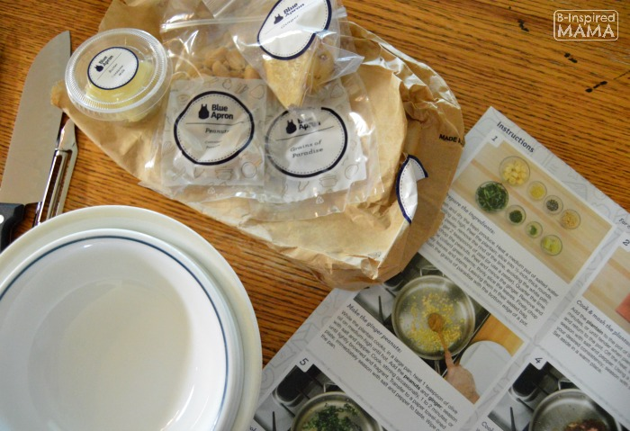 How Busy Moms can Cook Fancy Meals - A Blue Apron Review - Step by Step Instructions with Photos - at B-Inspired Mama