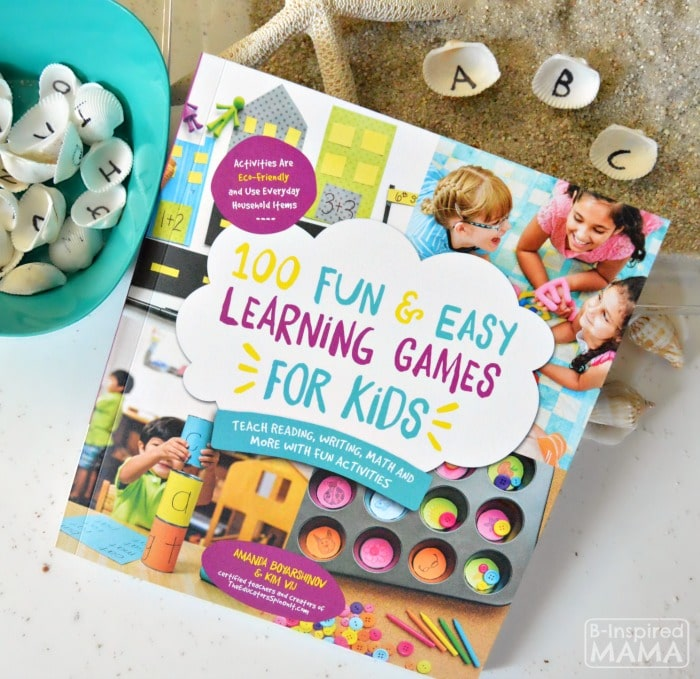 Learning the Alphabet with Seashells and Sand Sensory Writing - From the New Book - 100 Fun and Easy Learning Games for Kids - at B-Inspired Mama