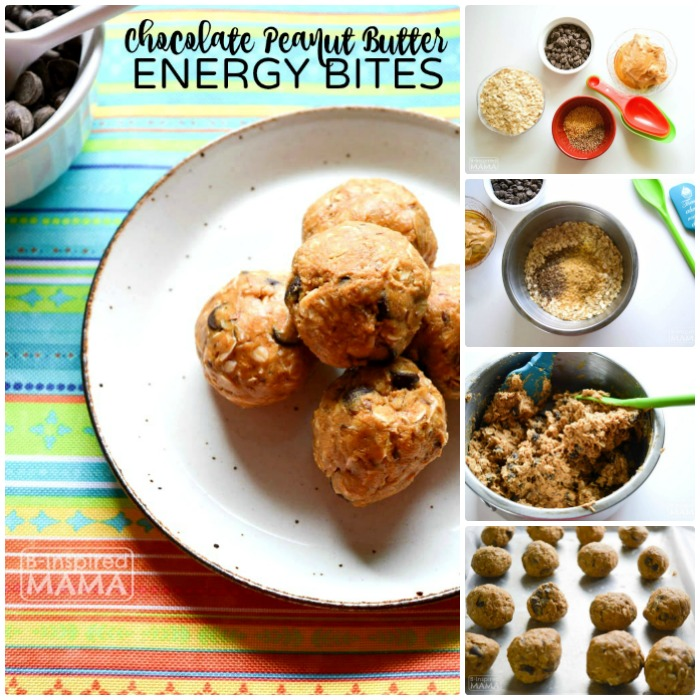 Easy Chocolate Peanut Butter No-Bake Energy Bites Recipe - Perfect for an After School Snack for the Kids or a Summer Picnic - at B-Inspired Mama