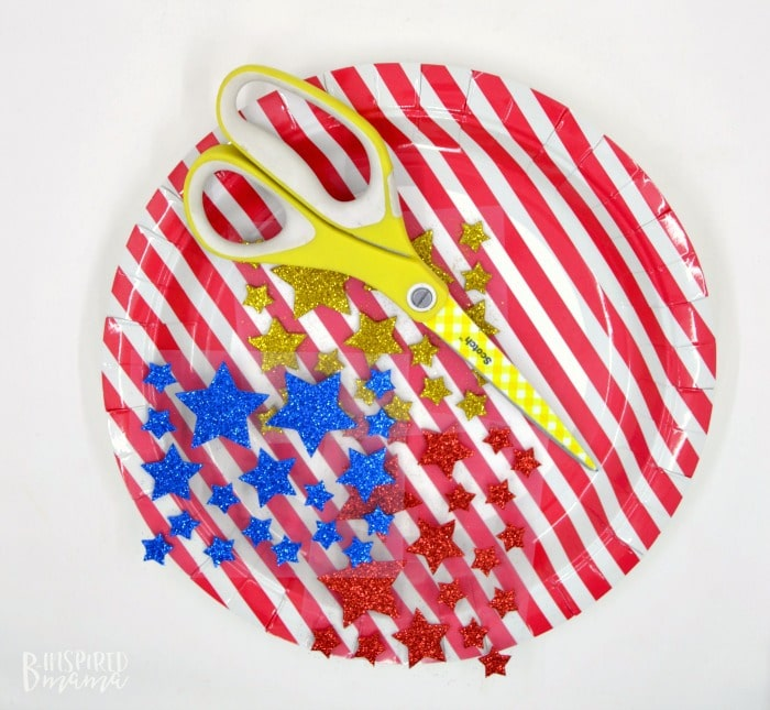 An Easy 4th of July Craft for Kids - A Stars and Stripes Crown - Supplies - at B-Inspired Mama