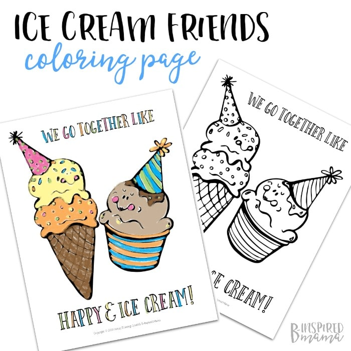 Ice Cream Easy Coloring Pages For Kids Drawing With Crayons